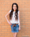Tractr Fray Hem Denim Skirt for Girls - Duckthreads