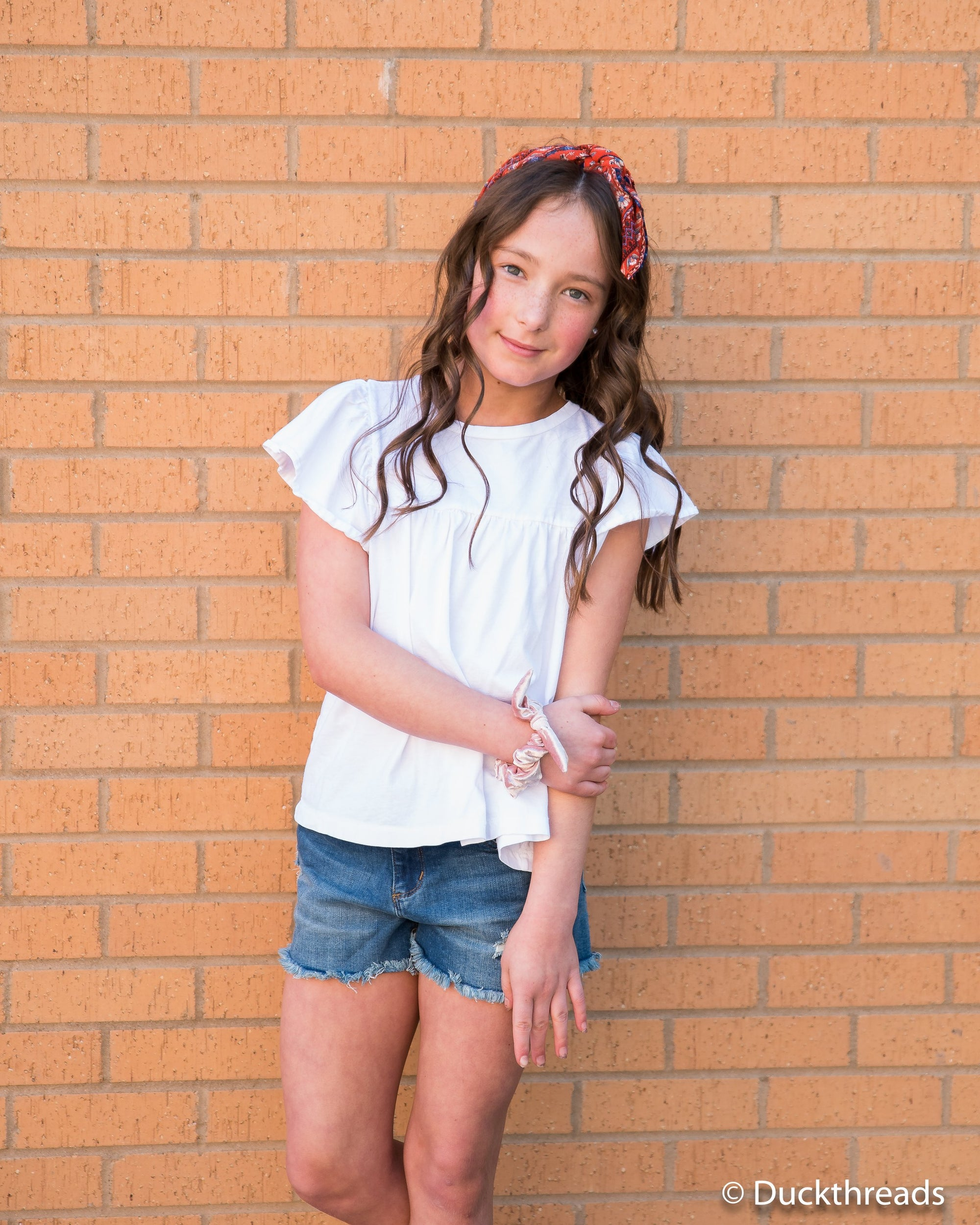 Tractr Dark Distressed Denim Shorts for Girls Duckthreads