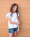 Tractr Dark Distressed Denim Shorts for Girls - Duckthreads