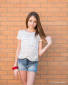 Tractr Girls Light Wash Distressed Denim Shorts Duckthreads
