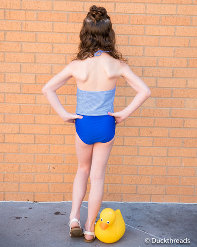 Royal Blue swim bottoms by Janela Bay Duckthreads