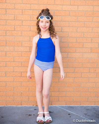 Royal Blue Swim top by Janela Bay - Duckthreads