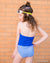 Royal Blue striped swim bottom by Janela Bay