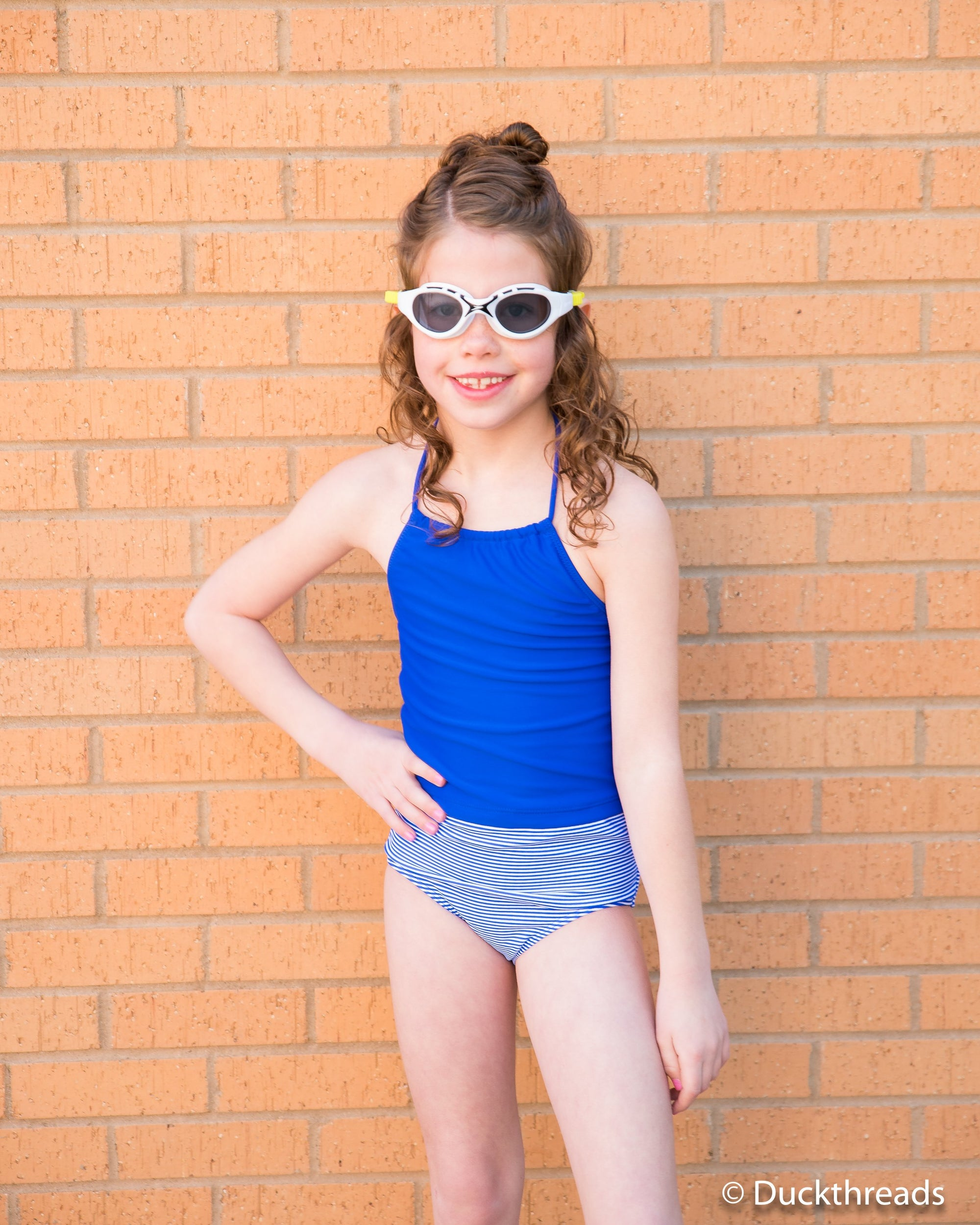 Royal Blue Swim top by Janela Bay Duckthreads