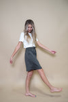 DT BREEZE Sporty Skirt in grey, modest skirt for women, teens, girls - Duckthreads
