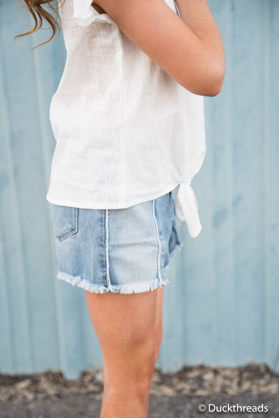 Tractr Out of Hibernation denim shorts