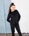 Minky bubble onesie - Black - Duckthreads