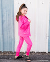 Minky Bubble Hoodie - Fuschia Duckthreads