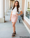 Leopard mini skirt in Pink - Duckthreads