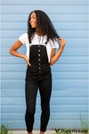 Kancan Black Denim Overalls for Women - Duckthreads
