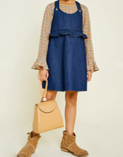 Denim Cross-Back Overall Dress