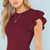 Luna Ruffle Bodysuit in Burgundy