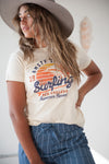 Jaws Surfing New England Graphic Tee in Cream