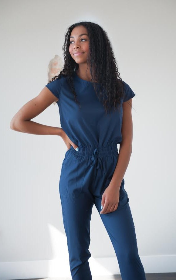"DT UNITY WOMEN'S JUMPSUIT WITH POCKETS in ""Bonneville Navy"""