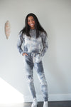 DT Kesley Tie Dye Hoodie & Jogger Two-Piece set in Grey