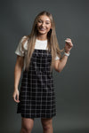 Darby Women's Overall dress with Bib Pocket in Black