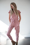 DT Unity Jumpsuit with Pockets in Pink Lemonade