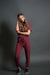 DT Amalia ribbed knit jogger set in Wild Berry