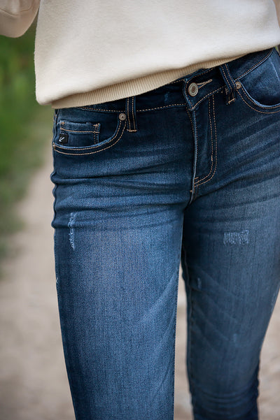 Kancan Lightly Distressed Indigo Jeans