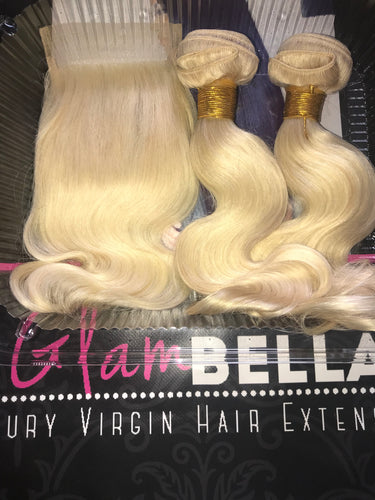Russian Blonde Lace Closures