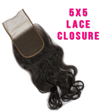 Load image into Gallery viewer, 5x5 Virgin Lace Closures - Glambella Extensions