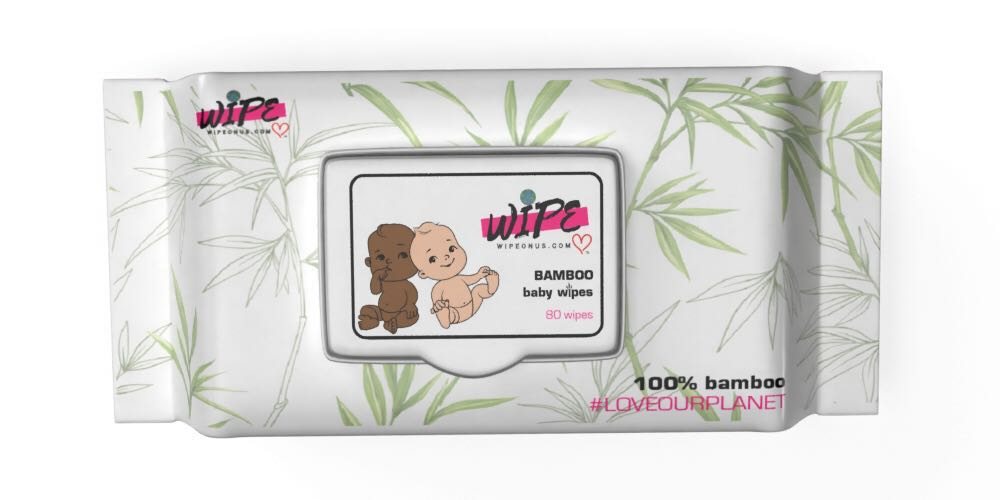4 Pack Eco-Friendly Climate Conscious Organic all Natural Bamboo Baby Wipes  (320 total individual wipes) Cleans around all curves smoothly.