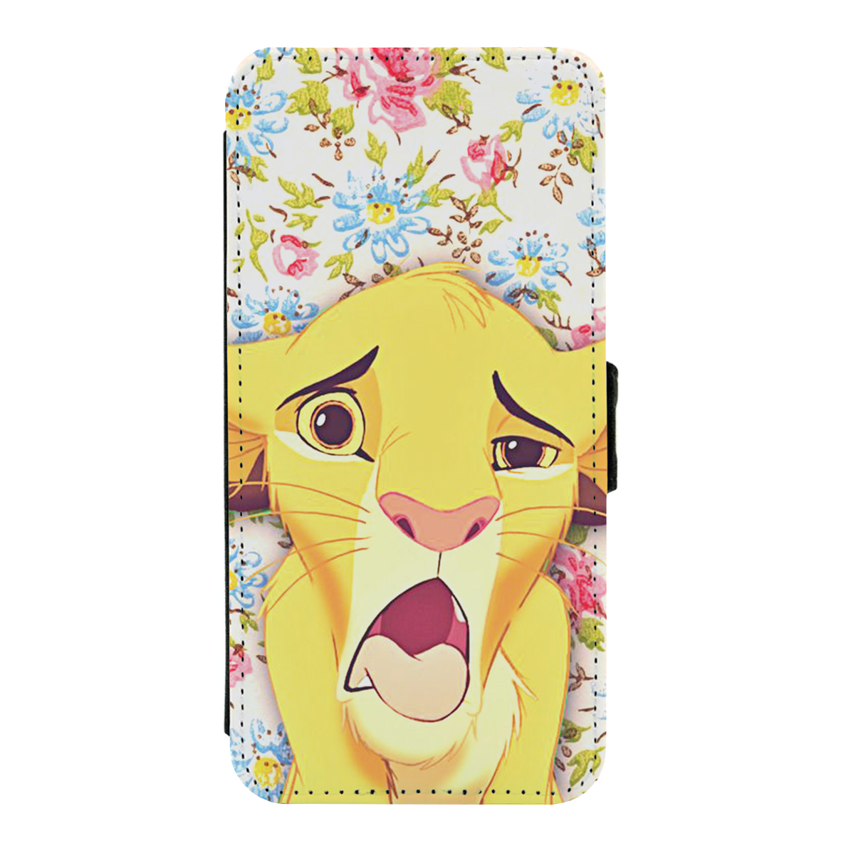 0709a0796185b5 Load image into Gallery viewer, Simba The Lion King Funny Face Disney PU  Leather Flip ...