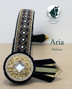 """Aria"" 14.5"" Navy browband"