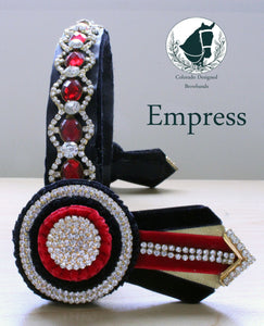 "Empress Browband 1"" custom made"