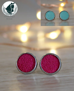 Pop of Colour Leather studs