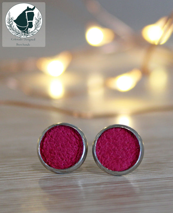 Pink Leather studs