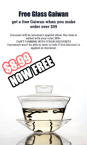 free glass gaiwan with order $59+