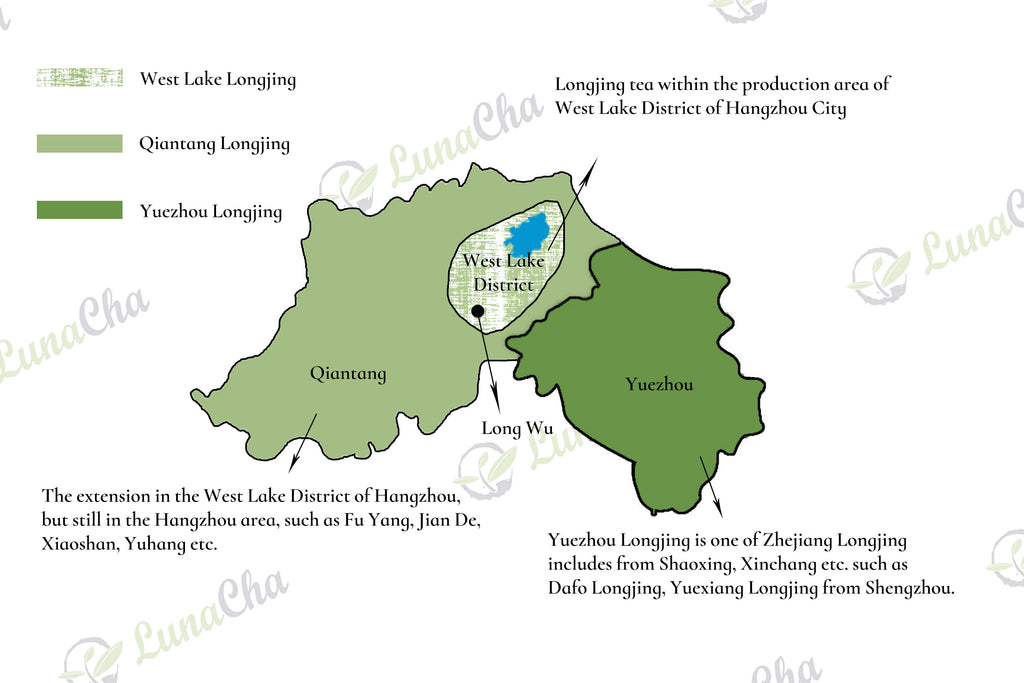 longjing tea map