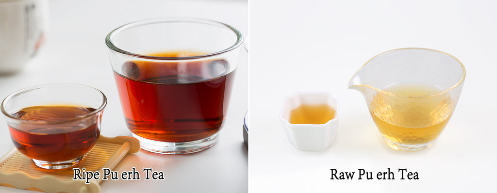 ripe pu erh tea vs raw pu erh tea