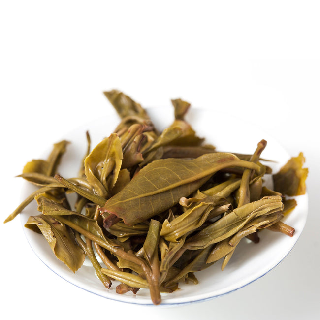 Bang Dong Raw pu erh tea brewed leaves