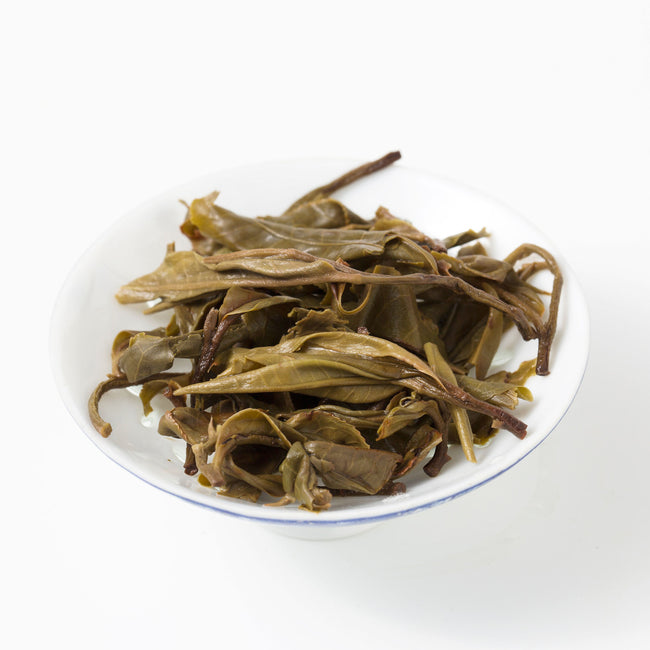 Bing Dao old arbor raw puer brewed tea leaves