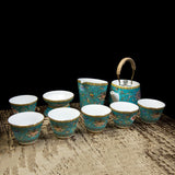 Chinese Royal style Famille-Rose teaware sets blue