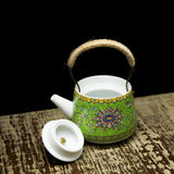Chinese Qing Dynasty royal style green teapot