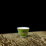 Chinese royal style famille rose green tea cup