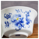 Gaiwan bowl large teapot peony flower 180ml