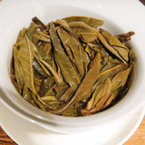 Lao Man E Pu erh tea 2015 brewed leaves