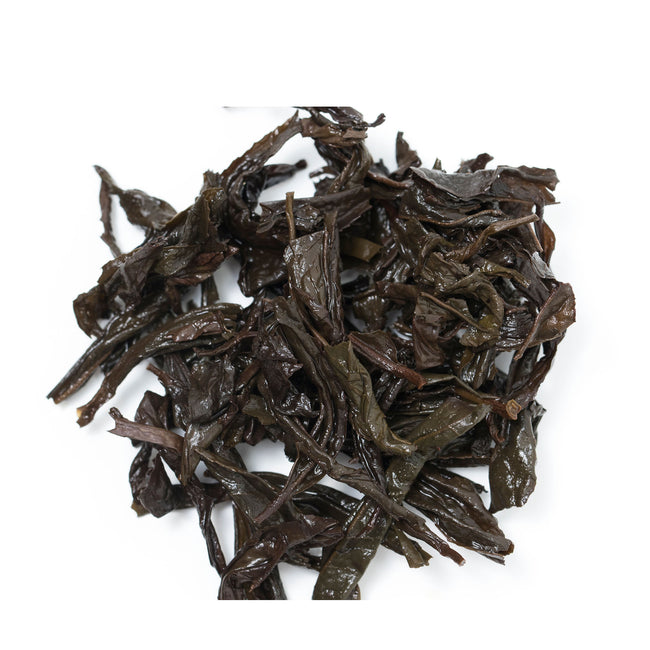 Rou Gui oolong Tea leaves after brewing
