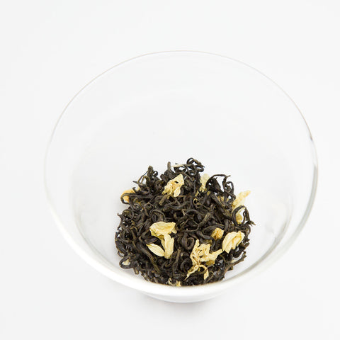 Sichuan green tea blended with jasmine flower