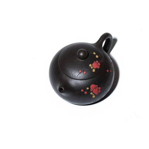 Yi Xing black gold sand teapot top view