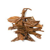 brewed leaves wuyi black tea