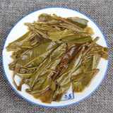 brewed small ban zhang pu erh tea leaves