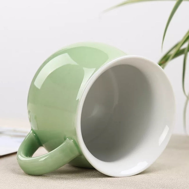 Green Ceramic Large Tea Cup