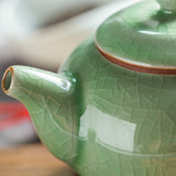 Crackle Glaze Porcelain Ge Kiln Teapot Set