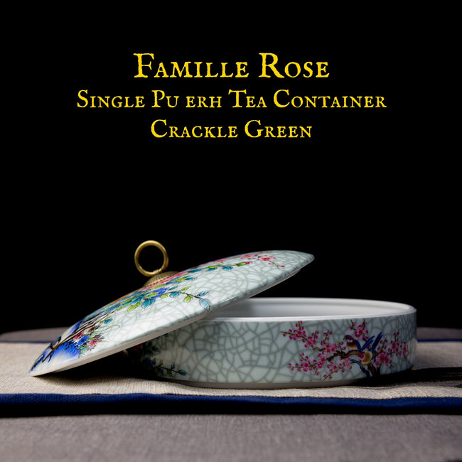 Famille Rose Porcelain Pu erh Tea Storage Container