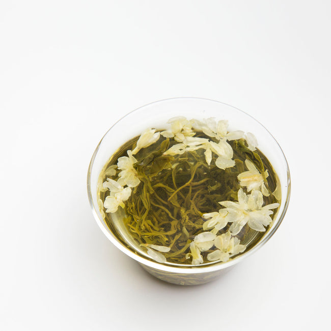 fresh jasmine flower tea loose leaf